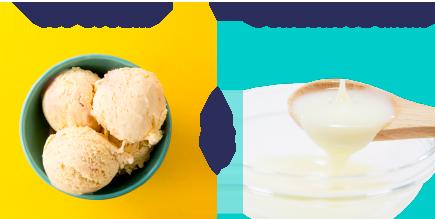 ヴァニラアイス&コンデンスミルク